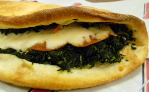 Pag's Spinach Calzone